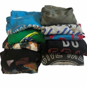 Lot of 10 boys long sleeve shirts size 6-7 xs